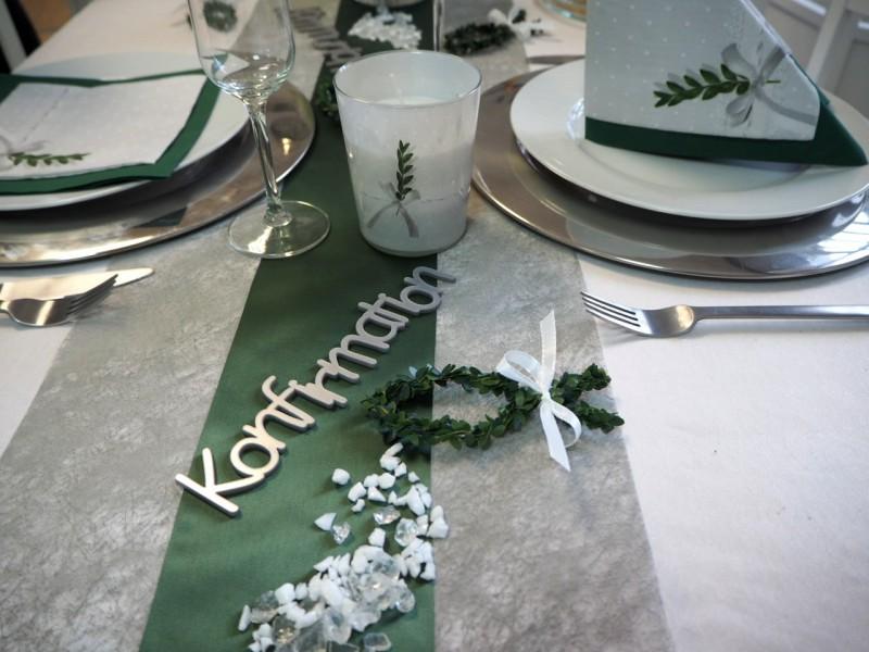 5m Tischlaufer Grau Hochzeit Tischdeko Tischbander Decken
