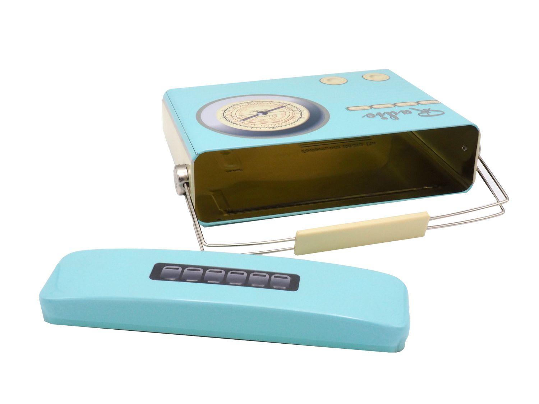 Metalldose Keksdose Radio Box Küche Deko Aufbewahrung Weihnachten Geschenkverpackung