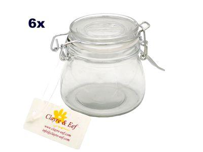 6x Vorratsgläser Aufbewahrungsglas Gewürzglas