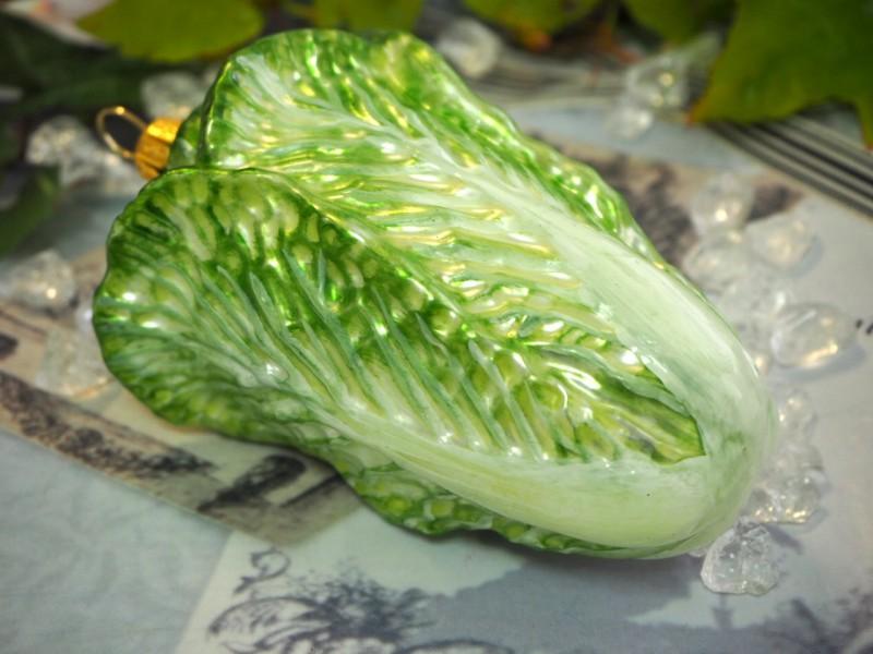 Chinakohl Salat Christbaumschmuck Baumschmuck Weihnachten Kugel Deko Advent Küche