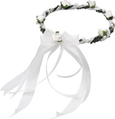 Haarschmuck Haarkranz Weiß Kopfschmuck Hochzeit Kommunion Taufe Blumenkind