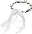 Haarschmuck Haarkranz Weiß Kopfschmuck Hochzeit Kommunion Taufe Blumenkind 1