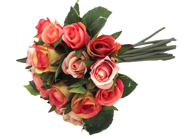 Kunstlicher Rosenstrauss Blumenstrauss Rosa Pink Hochzeit Tischdeko