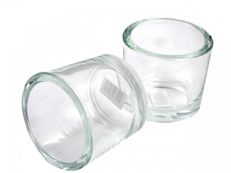 2 Teelichtgläser Kerzengläser Glas Tischdeko Deko Kommunion Konfirmation