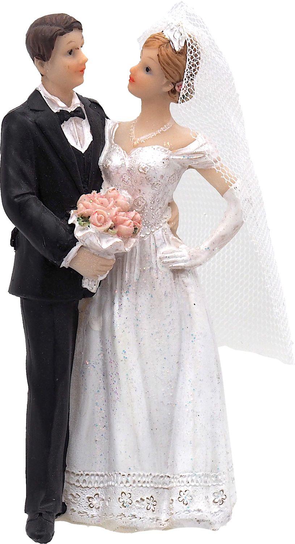 Tortendeko Tortenaufsatz Hochzeit Tortenfigur Hochzeitspaar Tischdeko Brautpaar Deko