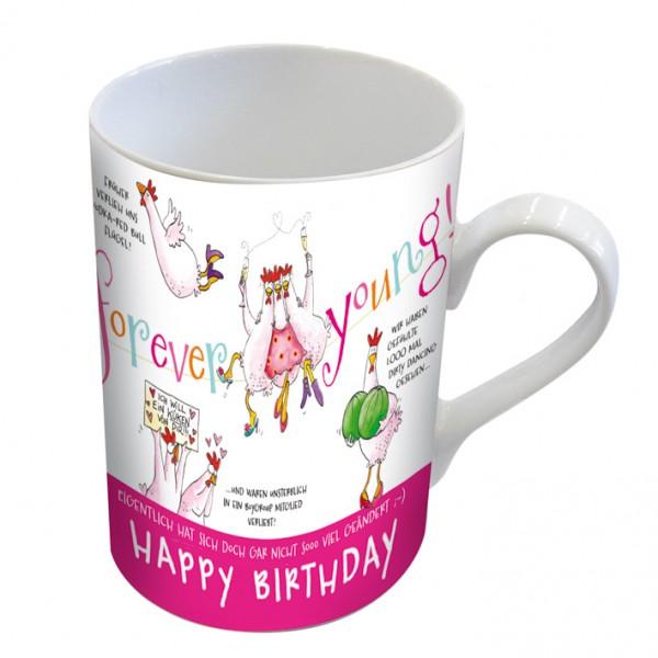 Becher Tasse Kaffeetasse Huhner Geburtstag Frau Freundin Home Kuche