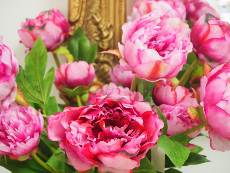 Künstliche Pfingstrose Hochzeit Tischdeko Deko Pink Rosa Taufe Garten ...