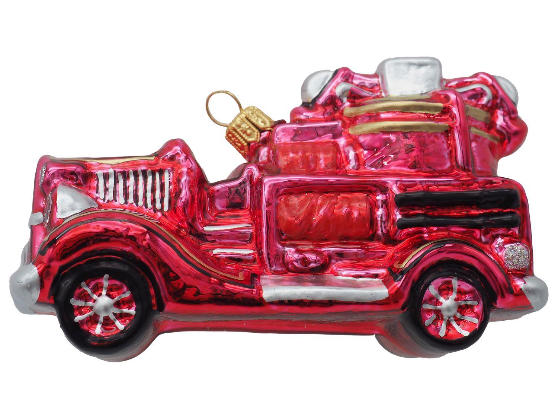 Feuerwehrauto Rot Christbaumschmuck Baumschmuck Geschenk Feuerwehrmann Deko