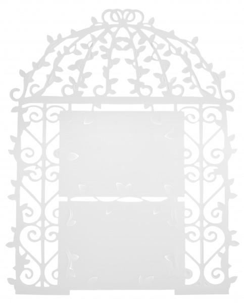 Tischplan Menüplan Weiß Menü Platzanweiser Wanddeko Deko Hochzeit