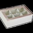 Teekiste Teebox Weiß Holz Teedose Box Kiste Deko 1