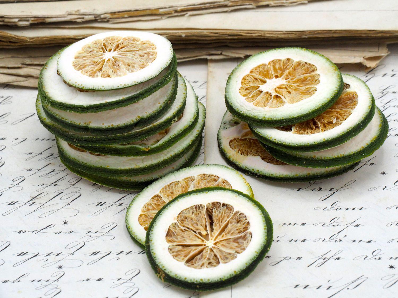 50 Limettenscheiben Limette Limone Grün Getrocknet Weihnachten Adventskranz Duft Deko
