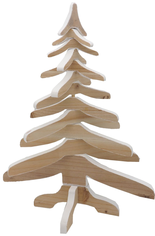 Deko Tannenbaum Holz.Tannenbaum Baum Holz Weiß Natur Weihnachtsdeko Deko Figur Weihnachten