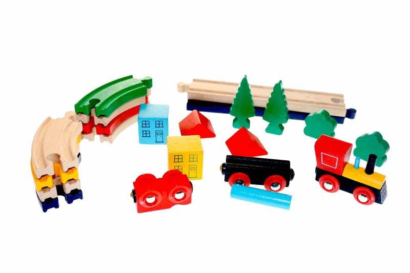 Holzeisenbahn Eisenbahn Holz Spielzeug Set Kinder Kleinkind