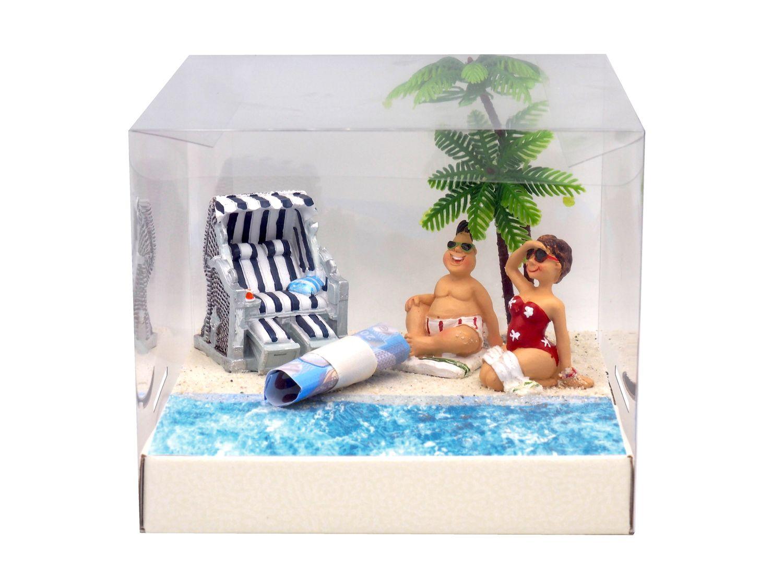 Geldgeschenk Verpackung Strandkorb Urlaub Geldgeschenke