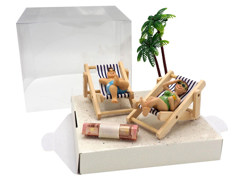 Geldgeschenk Verpackung Geldverpackung Liegestuhl Urlaub Reise Strand Geburtstag Hochzeit