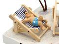Geldgeschenk Verpackung Geldverpackung Liegestuhl Urlaub Reise Strand Geburtstag Hochzeit  4