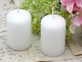 24 Kerzen Votivkerze Weiß Hochzeit Kommunion Konfirmation Tischdeko Deko 3