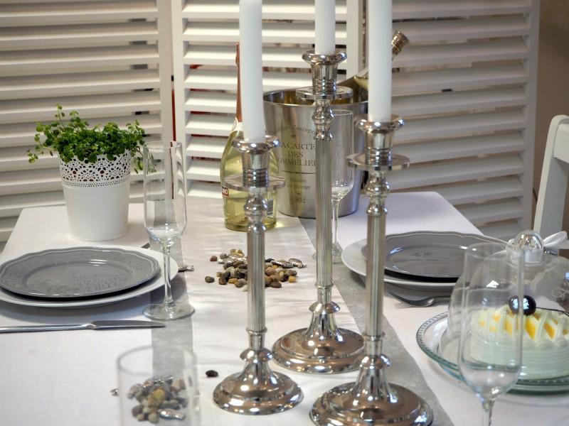 3 Kerzenstander Kerzenhalter Set Silber Weihnachten Licht Feuer