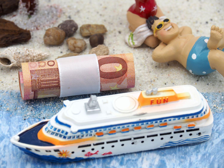 Geldgeschenk Verpackung Kreuzfahrt Hochzeit Goldhochzeit