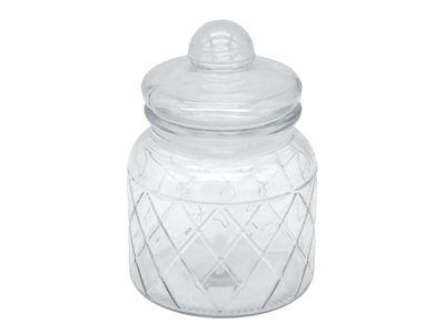 Vorratsglas 16cm Glasdose Aufbewahrungsglas Gewürzglas Deko Glas