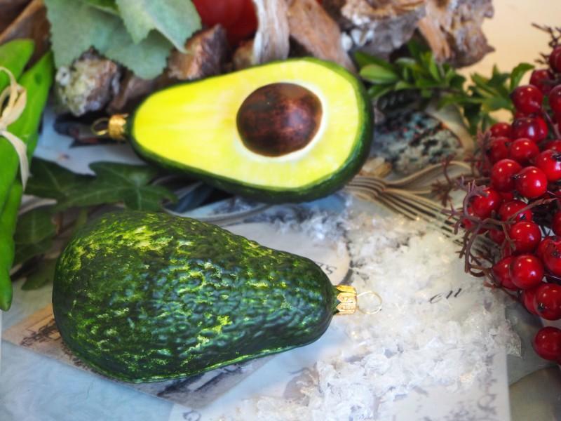 Avocado Avokado Glas Christbaumschmuck Deko Baumschmuck