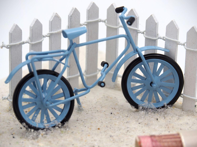 Geldgeschenk Verpackung Fahrrad Urlaub Blau Geldgeschenke