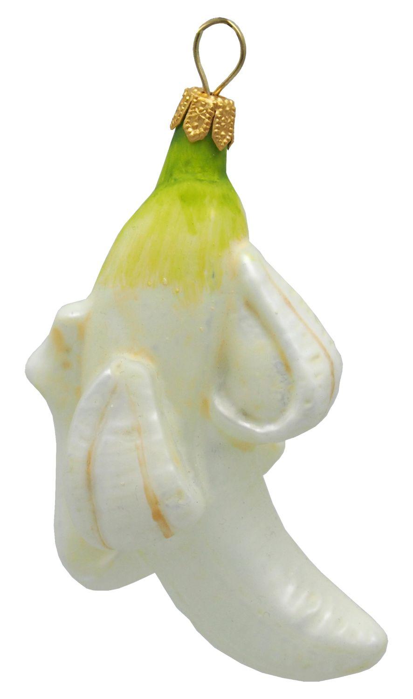 2x Bananen Glas Christbaumschmuck Deko Adventskranz Baumschmuck Tischdeko