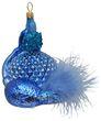 Flakon Parfum Blau Federn Christbaumschmuck 001
