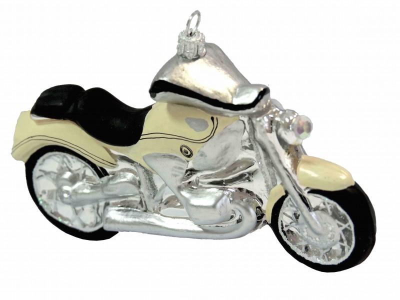 Motorrad Creme Christbaumschmuck Kugel Deko Mann Geschenk
