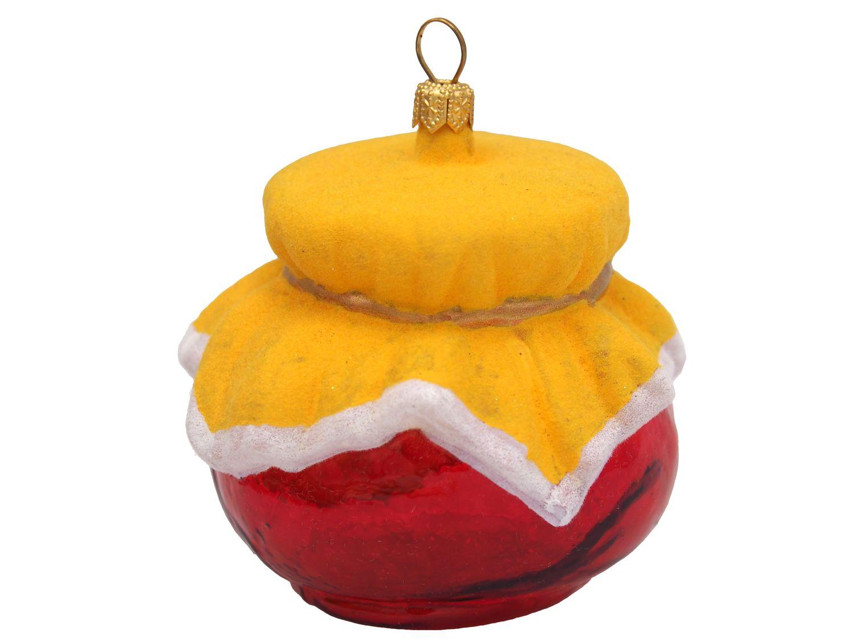 Erdbeermarmelade Marmelade Marmeladenglas Rot Gelb Christbaumschmuck Weihnachten Deko Küche Anhänger