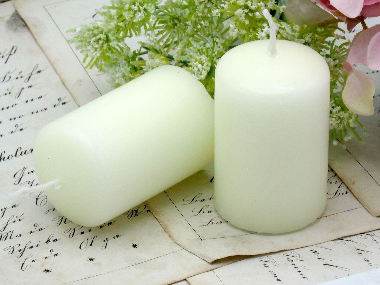 24 Kerzen Votivkerze Altweiß Hochzeit Kommunion Konfirmation Tischdeko Deko