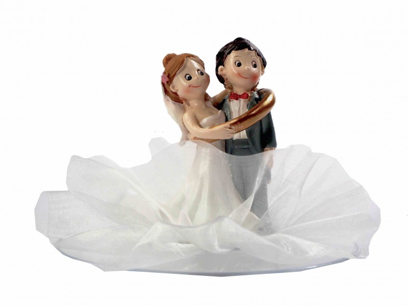 Tortendeko Tortenaufsatz Hochzeitspaar Brautpaar Mit Ring