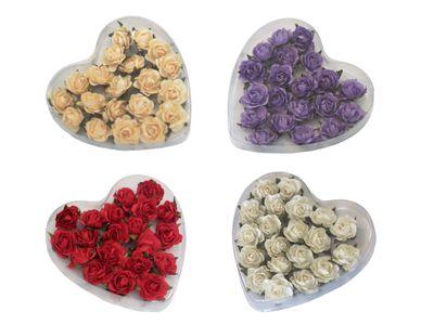 20 Rosen Basteln Streudeko Karten Tischdeko