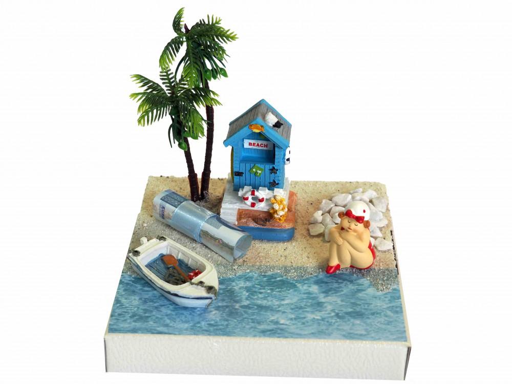 Geldgeschenk Verpackung Geldverpackung Urlaub Reise Boot Geburtstag