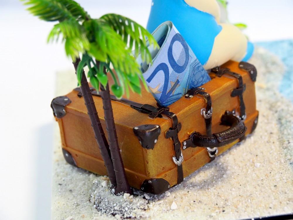 Geldgeschenk Verpackung Geldverpackung Urlaub Reise Strand Frau Geburtstag Weihnachten