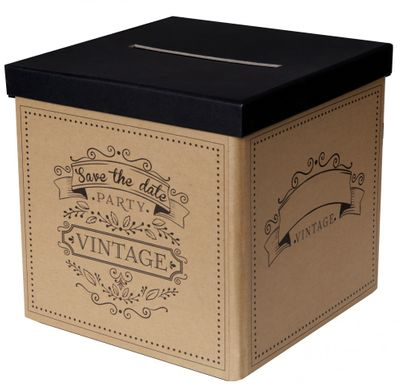 Briefbox Kartenbox Vintage Natur