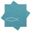 Servietten Fisch Petrol Blau Tischdeko Kommunion Konfirmation 20 Stück 1