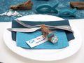 Servietten Fisch Petrol Blau Tischdeko Kommunion Konfirmation SET 20+20 Stück 4