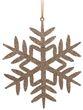 2 Anhänger Schneeflocke Gold Glitzer Weihnachten Christbaumschmuck Baumschmuck Weihnachtsbaum Deko 1