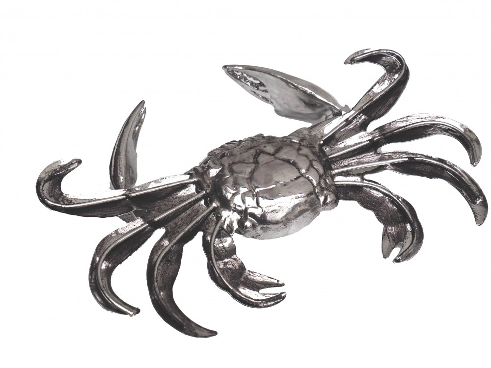 krabbe krebs dekofigur silber tischdeko partydeko. Black Bedroom Furniture Sets. Home Design Ideas