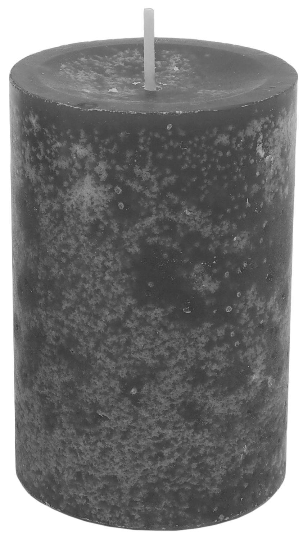 4 Stumpenkerzen Kerzen Grau Anthrazit 6cm Adventskranz Weihnachten Tischdeko Deko