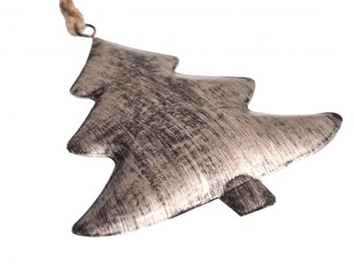 Christbaumschmuck Baumschmuck Weihnachtsdeko Metall Tannenbaum Gebürstet Anhänger Weihnachten