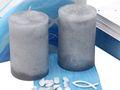 Tischdeko Kommunion Konfirmation Blau Weiß Grau Regenbogen Fisch SET 20 Personen 4