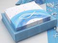 Tischdeko Kommunion Konfirmation Blau Weiß Grau Regenbogen Fisch SET 20 Personen 3