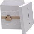 Briefbox ANNA Kartenbox Vintage Herz Spitze Hochzeit Geldgeschenk Weiß 4