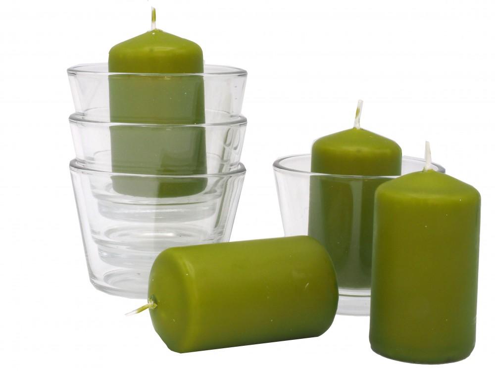 Votivkerze Glas grün Kerzendeko