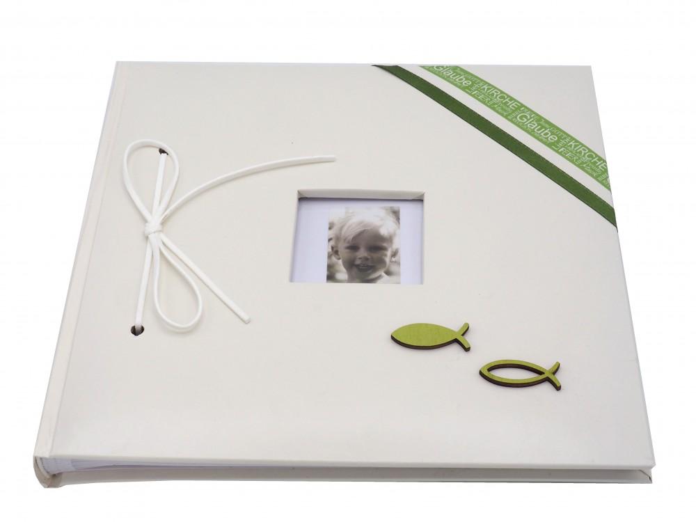 Gästebuch Album Fotoalbum Erinnerungsalbum Kommunion Konfirmation Taufe Grün