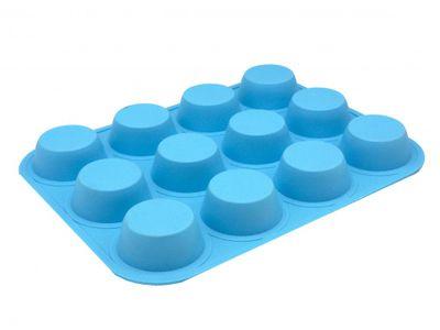 Muffinform Silikon Backform Blau