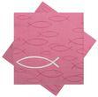 Servietten Fisch Pink Tischdeko Kommunion Konfirmation Taufe 20 Stück 1