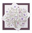 Servietten Baum des Lebens Mauve Lila Taupe Tischdeko Kommunion Konfirmation Lebensbaum SET 20+20 Stück 2